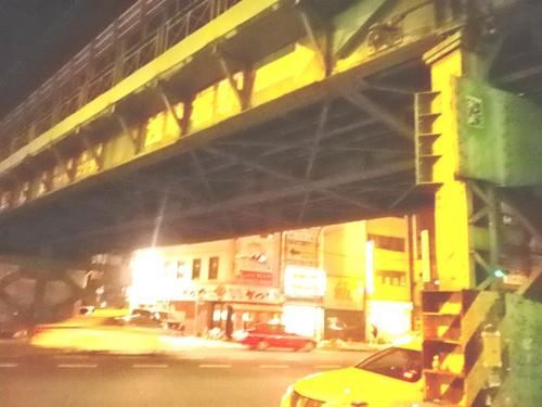 深夜の浅草橋駅から総武線を